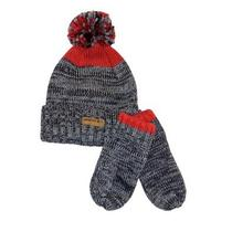 Nwt Carter's Toddler Boys Fleece Lined Hat and Mitten Set 2t 3t 4t Gray and Red Photo