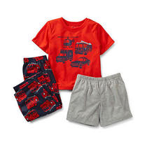Nwt Carters 3pc Jersey Pjs Pajama Set Outfit Sleepwear Red Fire Truck 24 Months Photo