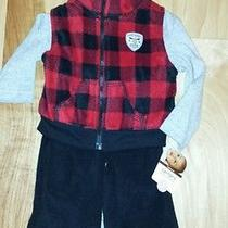 Nwt Carters 3pc Outfit Set Black Red Gray Size 9 Months Cotton. Photo