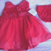 Nwt Carters Girls Newborn Fancy Holiday Red Dress Photo