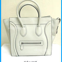 Nwt - Celine Mini Luggage Tote Shopper in Lune Drummed Leather W/silver Hardware Photo