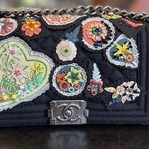 Nwt Chanel 15p Paris Salzburg Boy Flapl W/embroidered Patches Bag 10000 Photo