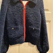 Nwt Chanel 2019 Coco Zip Up Navy Fleece Jacket Size 38 Photo