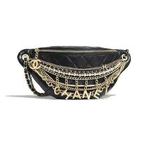Nwt Chanel Black Lambskin Gold Silver Metals Pearls Waist Bum Bag Sold Out Photo