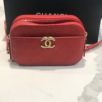 Nwt Chanel Red Caviar Waist Bag Belt Bum Camera Fanny Pack Gold 2019 19p New Photo