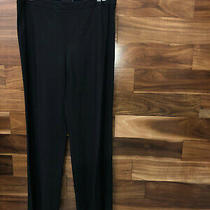Nwt Chanel Runway Classic Black Wool Slim Pants 48 1970 Photo