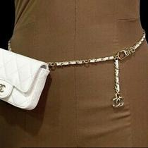 Nwt Chanel White Caviar Grained Leather Classic Mini Micro Chained Belt Bag Photo