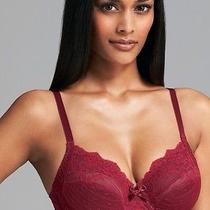 Nwt Chantelle 3281 Rive Gauche Cup Bra 40ddd Cassis/ Burgundy Full Cup Lace Photo