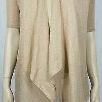 Nwt Charlotte Russe Beige Gold Sparkly Bling Open Front Cardigan Sweater Small Photo