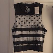Nwt Chaser La Grunge Flag Tee Small Photo
