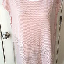 Nwt Chico's Travelers Veranda Blush Shimmer Top 1 (8 10)  Pink Blush / Silver  Photo