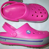 Nwt Children's Size 12/13 Crocs Fuchsia Crocband 2.5k Clogs Photo