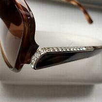 Nwt Chloe 295 Brown Swarovski Crystal Arms Sunglasses With Case Photo