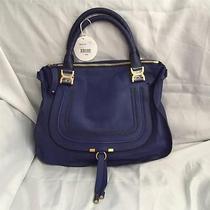 Nwt Chloe Large Marcie Bag - Sea Water/blue Leather Photo