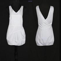 Nwt Chloe Mainline Summer Runway White Silk Cotton Bubble Tank Mini Dress 10 44 Photo