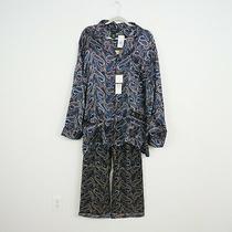 Nwt Christian Dior Monsieur Matching Pajamas Top Bottoms Sz L 100% Silk Paisley  Photo