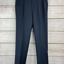 Nwt Christian Dior Monsieur Men's Blue Flat Front Dress Pants Long Size 38 Photo