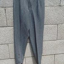 Nwt Christy Girl Womans Gray With Pinstripes Pants With Stirrups Size 4 Photo