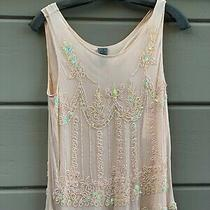 Nwt Ck for Calvin Klein Blush Laced Embellished Shell/top - Size 8 - Sold Out Photo