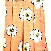 Nwt Clare and Tiffany Skirt Teen Girl Clothes Size 14 Orange Floral Mid-Calf Photo