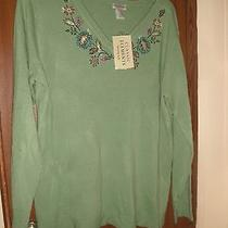 Nwt Classic Elements Embroidered Sweater Size 16/18 Photo