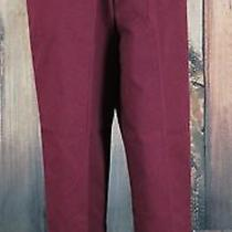 Nwt Classic Elements Petite Womens Burgundy Elastic Waist Casual Pants Size 10p Photo