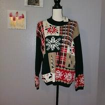 Nwt Classic Elements Vintage Christmas Sweater Xl Photo