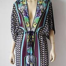 Nwt Clover Canyon Graphic Flower Cover Up 238 Size S Photo