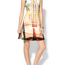 Nwt Clover Canyon Multicolor Fluorescent Lights Print Dress Sz S Photo