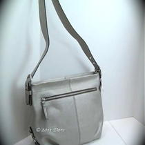 Nwt Coach 15064 Silver Leather Duffle Photo