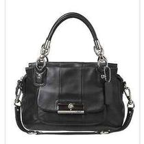 Nwt Coach 16800 Kristin Leather Satchel Black  Photo