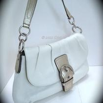 Nwt Coach 17217 -  Soho White Leather Flap - Retails  348.00 Photo