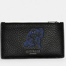 Nwt Coach 1848 X Marvel Black Panther Zip Card Case Holder Limited Edition Photo