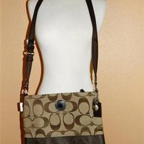 Nwt Coach 19220 Signature Purse Handbag Bag Khaki Brown Authentic Photo