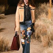 Nwt Coach 1941 Runway Selena Gomez Retro Patchwork Embroidered Jeans 29 Us6 Uk10 Photo