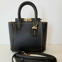 Nwt Coach 1941 Troupe 16 Mini Handbag Black Leather Crossbody Photo