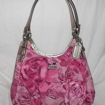Nwt Coach 19642 Madison Floral Op Art Maggie Shoulder Bag (Pink Multi-Color) Photo