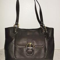 Nwt Coach 24961 Campbell Belle Mahogany Dark Brown Leather Carryall New Photo