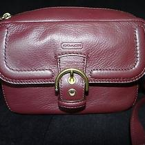 Nwt Coach 25150 Campbell Leather Camera Bag/crossbody/shoulder Bag Bordeaux  Photo