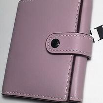 Nwt Coach 27100 Small Ice Purple Trifold Wallet With Floral Bow Print Photo