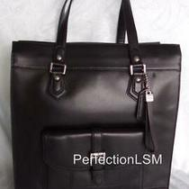 Nwt Coach 27823 Charlie Black Leather North South Tote First Class Business Photo