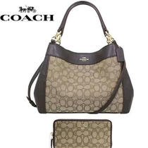 Nwt Coach 29548 Small Lexy Signature Jacquard Fabric Shoulder Bag and Wallet Photo