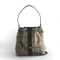 Nwt Coach 30581 Signature 12cm Drawstring Shoulder Bag Khaki/mahogany Photo