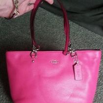Nwt Coach 36604 Sophia Small Tote Bag Polished Pebble Leather Pink Dahlia W/dbag Photo