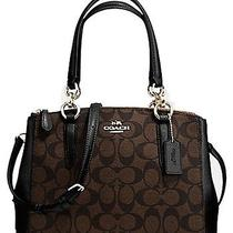 Nwt Coach 36718 Brown/black Signature Mini Christie Carryall  Gift Rec't Photo