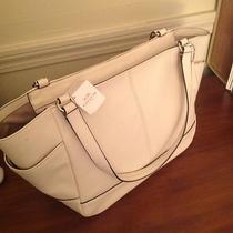Nwt Coach 36898e Park Carrie Tote/handbag Leather White Photo