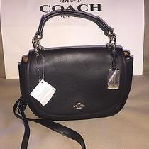 Nwt Coach 37180 Nomad Black Glove Tanned Leather Crossbody Bag Photo