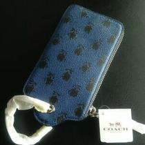 Nwt Coach 52928 Hangtag Wristlet  Printed Crossgrain Leather Photo