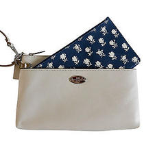 Nwt Coach 53322 Floral Pop Up Pouch / Wristlet  Gift Rec't Incl. Photo