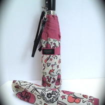 Nwt Coach 61573 Kyra Print Compact Umbrella With Slip Cover - Retails  58.00 Photo